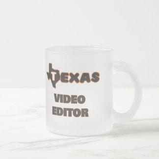 Editor de vídeo de Tejas Taza Cristal Mate
