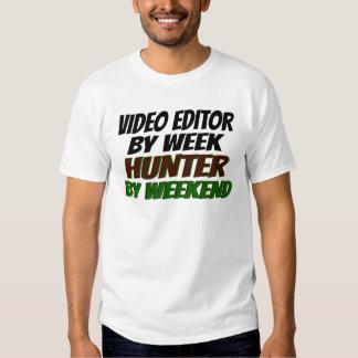 Editor de vídeo del cazador polera
