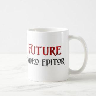 Editor de vídeo futuro taza de café