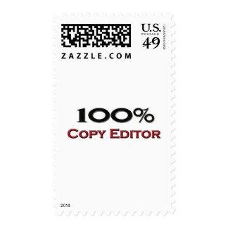 Editor del 100 por ciento sello