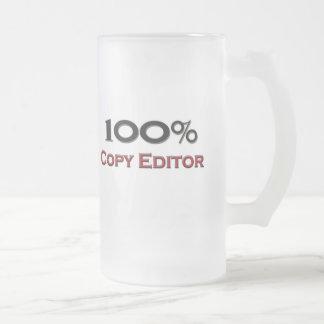 Editor del 100 por ciento taza cristal mate