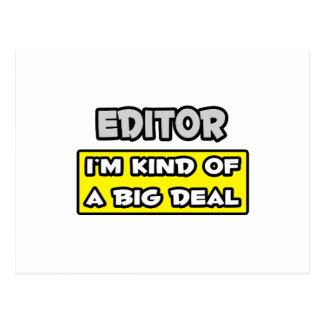 Editor .. I'm Kind of a Big Deal Postcard
