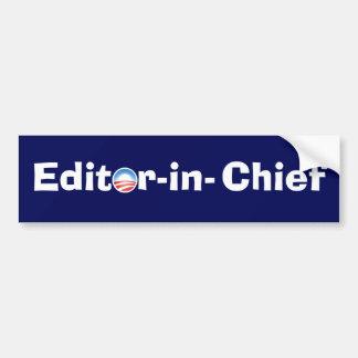 Editor-in-Chief Car Bumper Sticker
