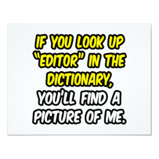 Editor In Dictionary...My Picture Card