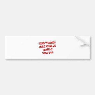 Editor Pick-Up Line Car Bumper Sticker