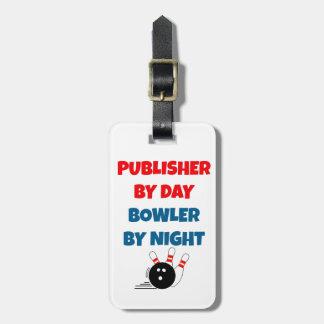 Editor por el jugador de bolos del día por noche etiquetas bolsa