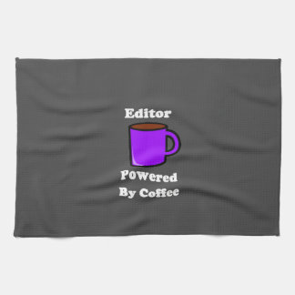 """""""Editor"""" Powered by Coffee Kitchen Towels"""