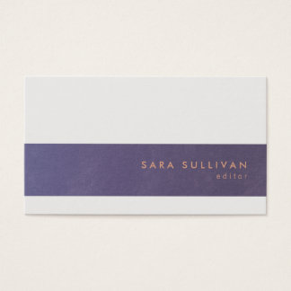 Editor Print Publishing Elegant Violet Stripe Business Card