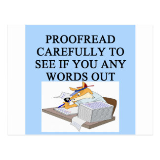 EDITOR proofreader joke Postcard