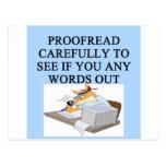 EDITOR proofreader joke Postcards