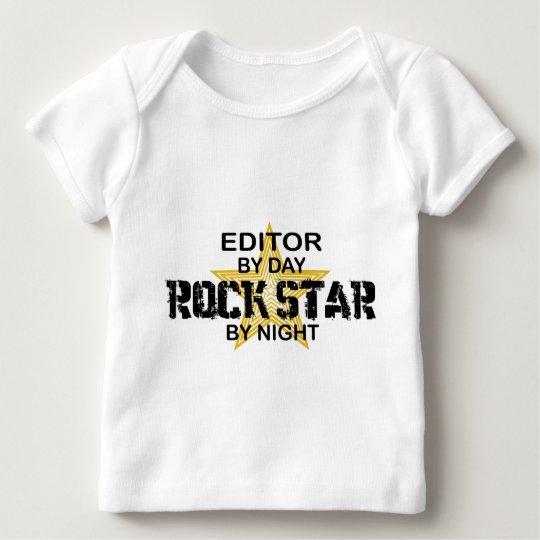 Editor Rock Star by Night Baby T-Shirt