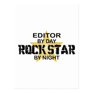 Editor Rock Star by Night Postcard