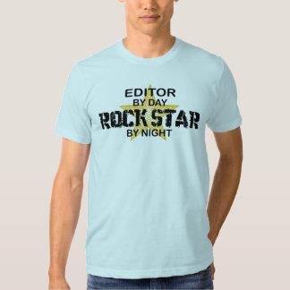 Editor Rock Star by Night T-shirt