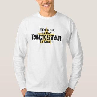 Editor Rock Star by Night Tee Shirt
