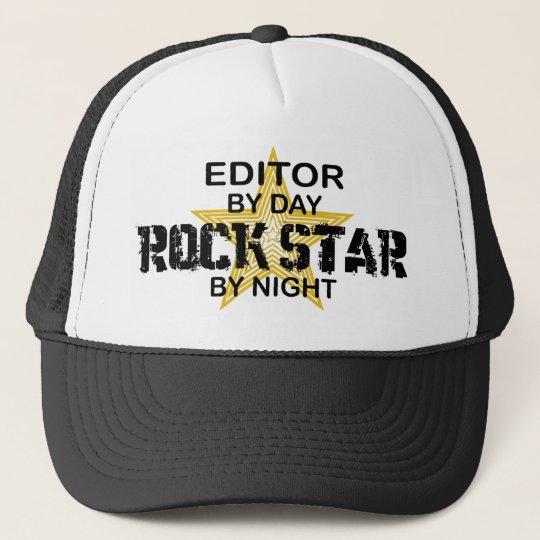 Editor Rock Star by Night Trucker Hat