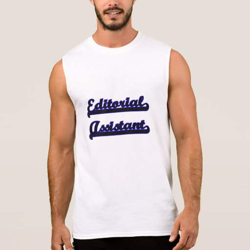 Editorial Assistant Classic Job Design Sleeveless Tees Tank Tops, Tanktops Shirts