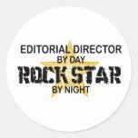 Editorial Dir Rock Star Night Round Stickers