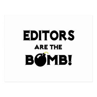 Editors Are The Bomb! Postcard