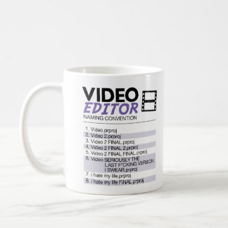 Editors File Naming Coffee Mug