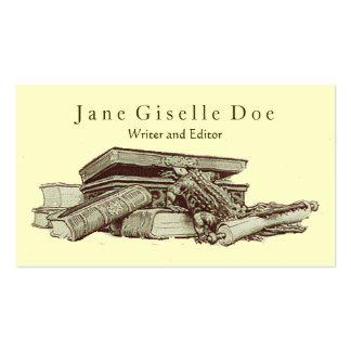 Editor's Vintage Business Card; Crocodile & Books