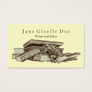 Editor's Vintage Business Card; Crocodile & Books Business Card