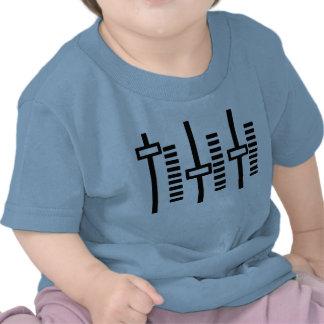 Edm azul del volumen de la música de la casa del camiseta