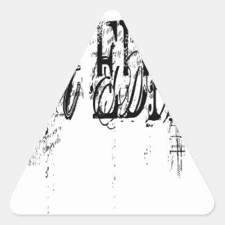 EDM conseguido Pegatina Triangular