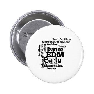 EDM Dance Party Word Cloud Button