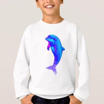 Beach Themed EDM Electronic Dance Techno Neon Rave Dolphin Sweatshirt
