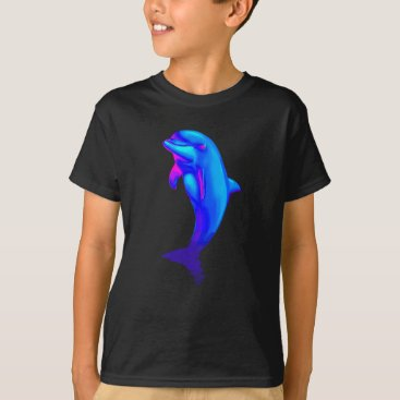 Beach Themed EDM Electronic Dance Techno Neon Rave Dolphin T-Shirt