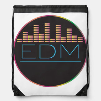 EDM Equalizer Drawstring Bag