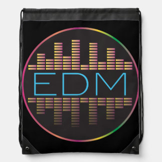 EDM Equalizer Reflection Drawstring Bag