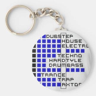 EDM Era Basic Round Button Keychain