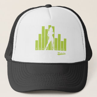 EDM Girl Green Trucker Hat
