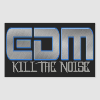 EDM KILL THE NOISE RECTANGULAR STICKER