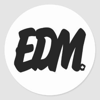 EDM Letters Classic Round Sticker
