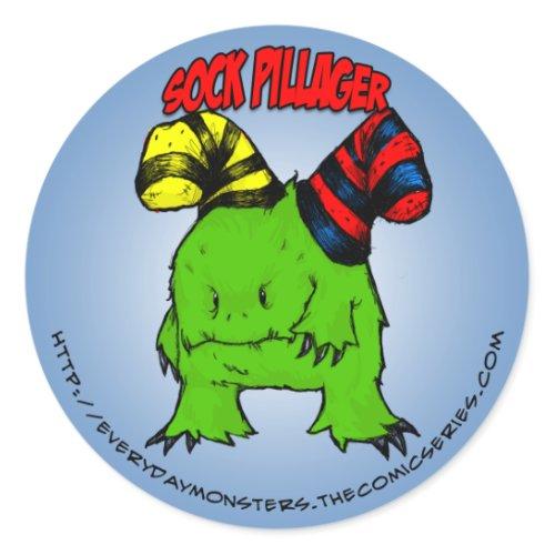 EDM Sock Pillager Sticker sticker