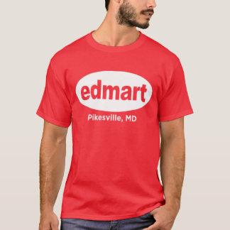 Edmart White on Red T-Shirt