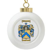 Edmond Ceramic Ball Christmas Ornament