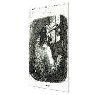 Edmond Dantes imprisoned in the Chateau d'If Canvas Print