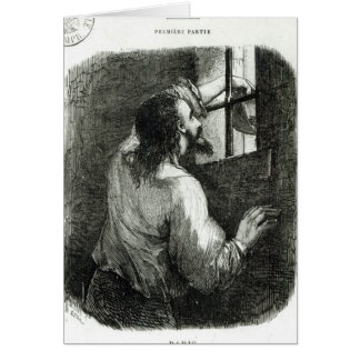 Edmond Dantes imprisoned in the Chateau d'If Cards