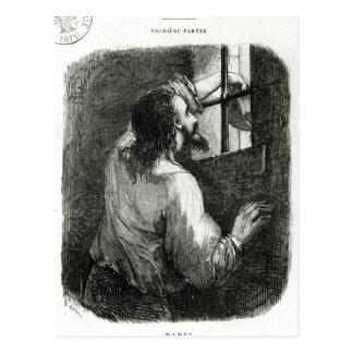Edmond Dantes imprisoned in the Chateau d'If Postcard
