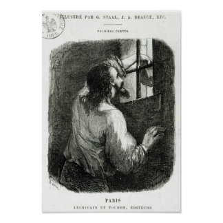 Edmond Dantes imprisoned in the Chateau d'If Posters