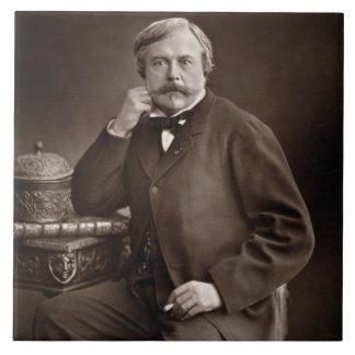 Edmond de Goncourt (1822-96) de 'Galerie Contemp Azulejo Cuadrado Grande