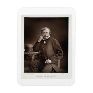 Edmond de Goncourt (1822-96) de 'Galerie Contemp Imán Foto Rectangular