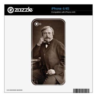 Edmond de Goncourt (1822-96) from 'Galerie Contemp Skin For iPhone 4