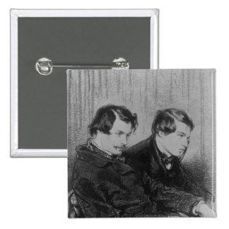 Edmond de Goncourt  and Jules de Goncourt Button