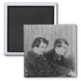 Edmond de Goncourt y Julio de Goncourt Imán Cuadrado
