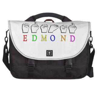 EDMOND FINGERSPELLED ASL NAME MALE LAPTOP COMPUTER BAG