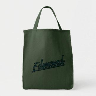 Edmond in cyan grocery tote bag